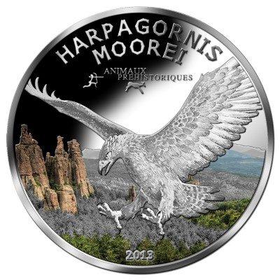 Gabon - 2013 - 1000 Francs - Prehistoric Wildlife EAGLE HARPAGORNIS MOOREI  (PROOF)