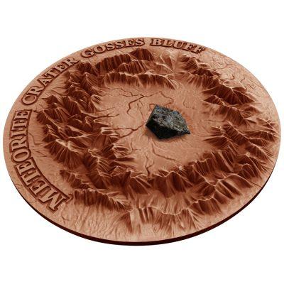 Niue - 2016 - 2 Dollars - Gosses Bluff Crater with Henbury Meteorite