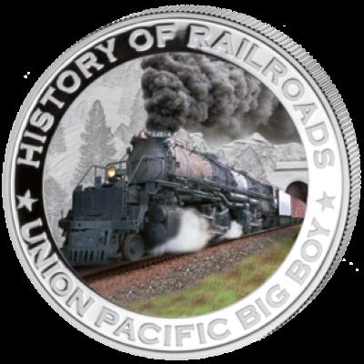 Liberia - 2011 - 5 Dollar - Railroad BIG BOY (PROOF)