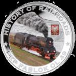 Liberia - 2011 - 5 Dollar - Railroad PKP FABLOK (PROOF)