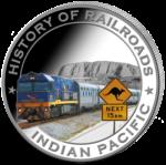 Liberia - 2011 - 5 Dollar - Railroad INDIAN PACIFIC (PROOF)