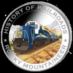 Liberia - 2011 - 5 Dollars - History of Railroads ROCKY MOUNTAINEER (PROOF)