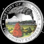 Liberia - 2011 - 5 Dollars - History of Railroads ORIENT EXPRESS (PROOF)