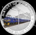 Liberia - 2011 - 5 dollar - Railroad BLUE TRAIN ()