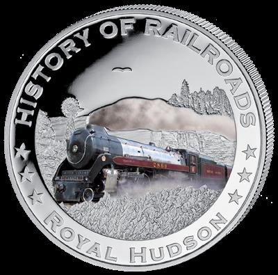 Liberia - 2011 - 5 dollar - Railroad HUDSON ()