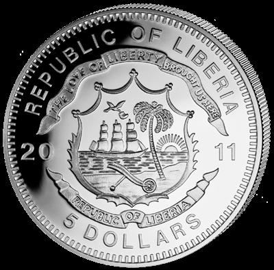 Liberia - 2011 - 5 dollar - Kremlin Palace  (PROOF)