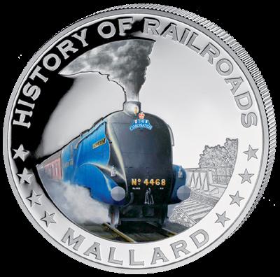 Liberia - 2011 - 5 dollar - Railroad MALLARD ()