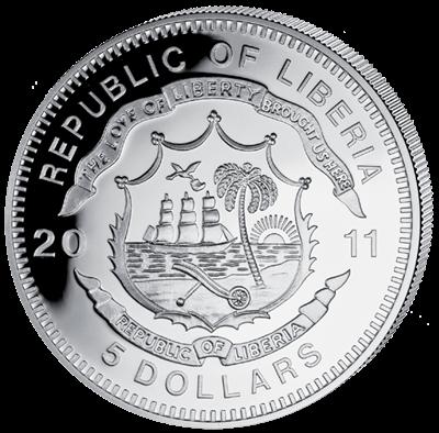 Liberia - 2011 - 5 dollar - Railroad SHINKANSEN ()