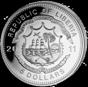 Liberia - 2011 - 5 dollar - Railroad TRANSSIBERIAN ()