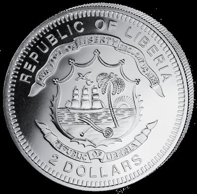 Liberia - 2 dollar - Drummer (PROOF)