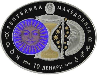 Macedonia - 2014 - 10 Denars - Zodiac Signs LIBRA (PROOF)