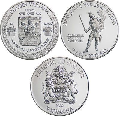 Malawi - 2009 - 2 x 5 Kwacha - 2000 Years Battle Teutoburg Forest SET BOX (PROOF)