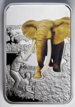 Malawi - 2011 - 20 Kwacha - Art of Hunting ELEPHANT (PROOF)