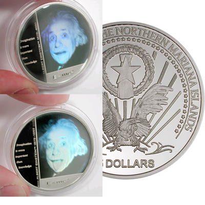 Mariana Islands - 2004 - 5 Dollars - KMnew Albert Einstein (PROOF)