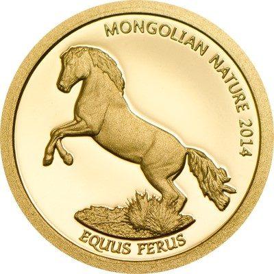 Mongolia - 2014 - 500 Togrog - Mongolian Nature HORSE Au (PROOF)