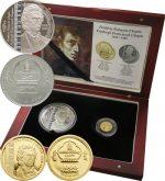 Mongolia - 2008 - 500+1000 Tugrik - Frederic Chopin (set AG+AU in box) (PROOF)