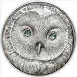 Mongolia - 2011 - 500 Tugrik - Ural Owl Strix Uralensis SILVER (Antique)