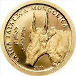 Mongolia - 2011 - 500 Tugrik - Saiga Tatarica Mongolica GOLD (PROOF)