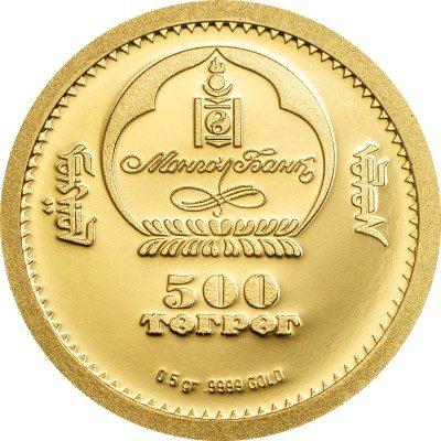 Mongolia - 2013 - 500 Togrog - Golden Eagle (PROOF)