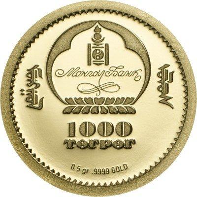 Mongolia - 2016 - 1000 Togrog - Evolution of Life TROLIBITE GOLD (PROOF)