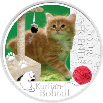 Niue - 2012 - 2 Dollars - Our Friends Kitten KURILIAN BOBTAIL (PROOF)