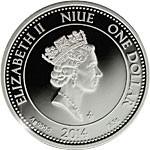 Niue - 2014 - 1 Dollar - Aureus Iustitia (PROOF)