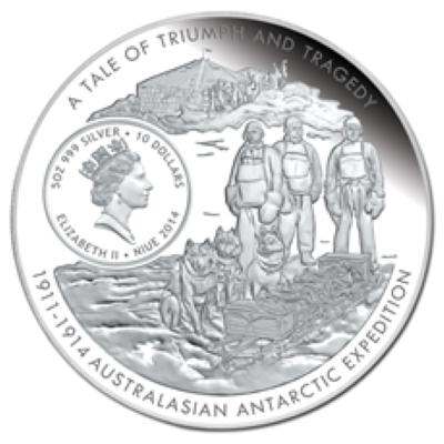 Niue - 2014 - 10 Dollars - Australasian Antarctic Expedition MAWSON (PROOF)