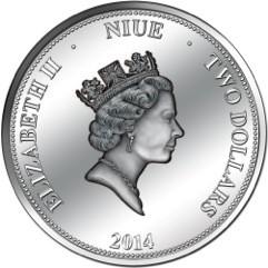 Niue - 2014 - 2 Dollars - 100 Years Panama Canal (including box) (PROOFLIKE)