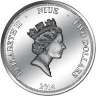 Niue - 2014 - 2 Dollars - Pi 3.1415 (PROOF)