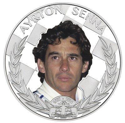Niue - 2014 - 2 Dollars - Formula One World Champion Anniversary ARYTON SENNA (PROOF)