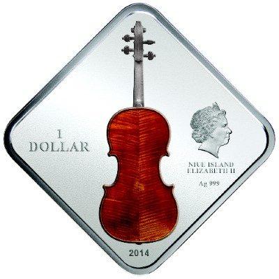 Niue - 2014 - 1 Dollar - The Art Of Violin STRADIVARIUS LADY BLUNT (PROOF)