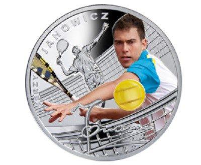 Niue - 2014 - 1 Dollar - Tennis JERZY JANOWICZ (PROOF)