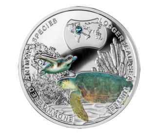 Niue - 2014 - 2 Dollars - Hawksbill Turtle  (PROOF)