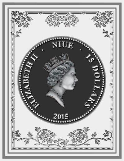 Niue - 2015 - 15 Dollars - World Library DON QUIXOTE DE LA MANCHA (PROOF)