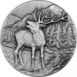 Niue - 2015 - 2 Dollars - Swiss Wildlife RED DEER (ANTIQUE)