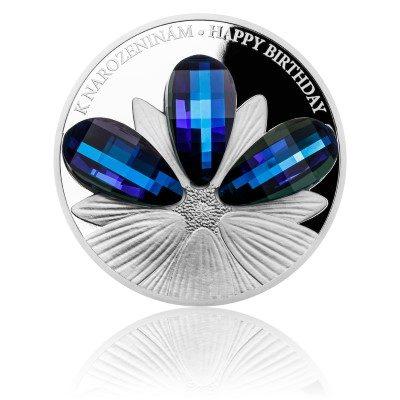 Niue - 2016 - 5 Dollars - Crystal Coins HAPPY BIRTHDAY (PROOF)