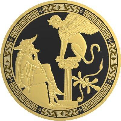 Niue - 2016 - 10 Dollars - Greek Myths OEDIPUS AND SPHINX  (PROOF)