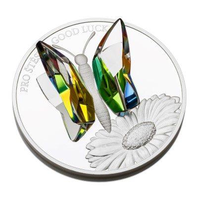 Niue - 2016 - 5 Dollars - Crystal Coins GOOD LUCK (PROOF)