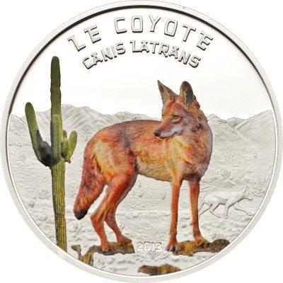 Niger - 2013 - 1000 Francs - Predator Hunters CANIS LATRANS COYOTE (PROOF)