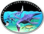 Niue - 2013 - 1 Dollar - Jurrasic Period LIFE IN WATER (PROOF)