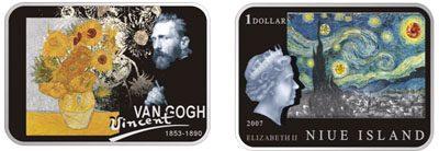 Niue - 2007 - 1 Dollar - Vincent van Gogh (PROOF)