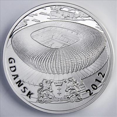 Niue - 2010 - 1 Dollar - Soccer Stadiums GDANSK (PROOF)