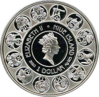 Niue - 2011 - 1 Dollar - Zodiac Mucha CAPRICORN (PROOF)