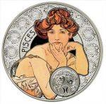 Niue - 2011 - 1 Dollar - Zodiac Mucha PISCES (PROOF)