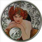 Niue - 2011 - 1 Dollar - Zodiac Mucha SCORPIO (PROOF)