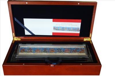 Niue - 2012 - 9x 1 Dollar - Year of Dragon Bar Set (PROOF)