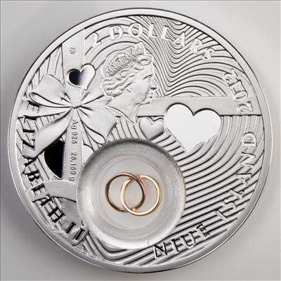 Niue - 2012 - 1 dollar - Wedding (PROOF)