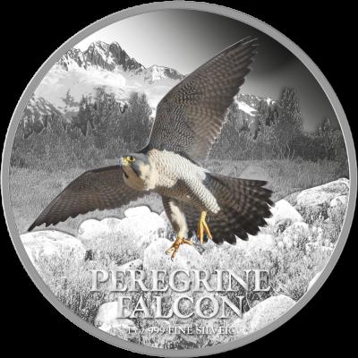 Niue - 2013 - 2 Dollars - Birds of Prey PEREGRINE FALCON (PROOF)
