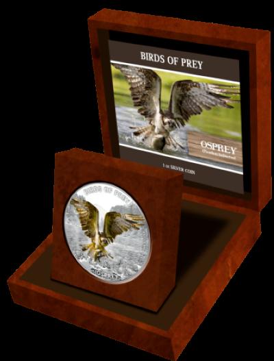 Niue - 2013 - 2 Dollars - Birds of Prey OSPREY (PROOF)