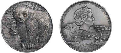 Niue - 2016 - 2 Dollars - Brave Animals HONEY BADGER (PROOF)